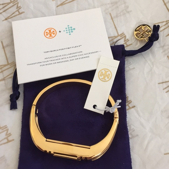 37631d323d5 New Tory Burch Fitbit flex 2 bangle bracelet gold
